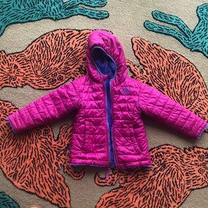 Fuchsia and purple reversible Northface jacket
